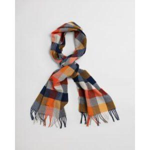 Écharpe en laine à carreaux multicolores
