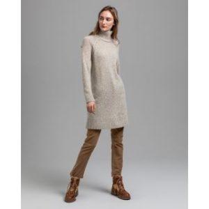 Robe en tricot moucheté