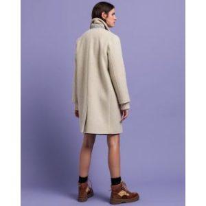Manteau ultra-ample en laine mélangée
