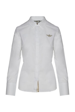 Chemise Sport White Aeronautica Militare