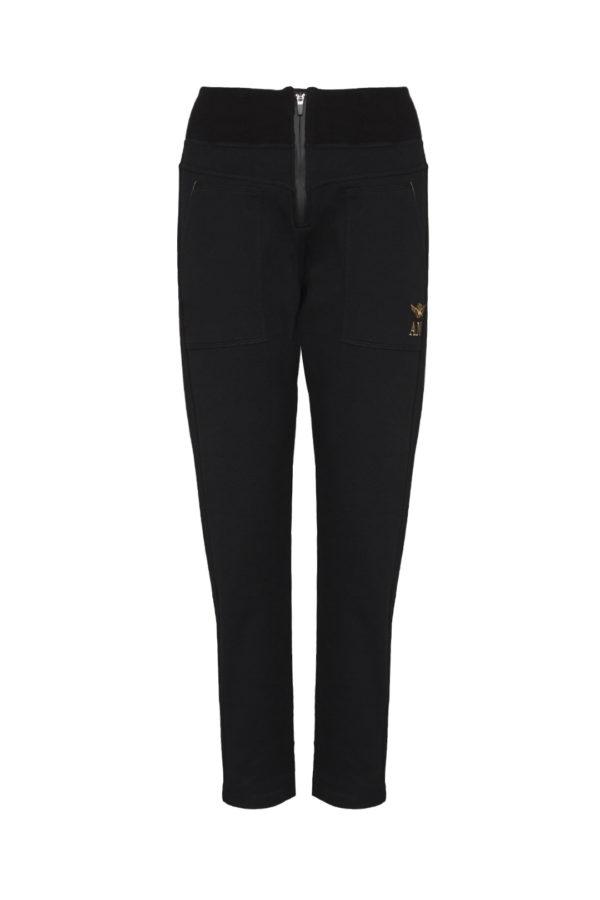 pantalon femme noir Aeronautica Militare