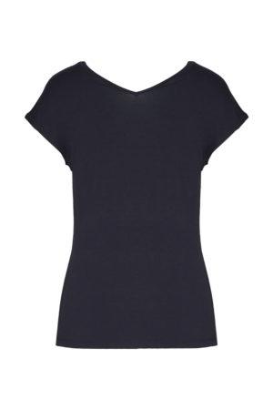 Tee-shirt noir scollo Aeronautica Militare