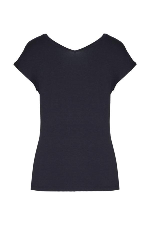 t-shirt noir scollo Aeronautica Militare