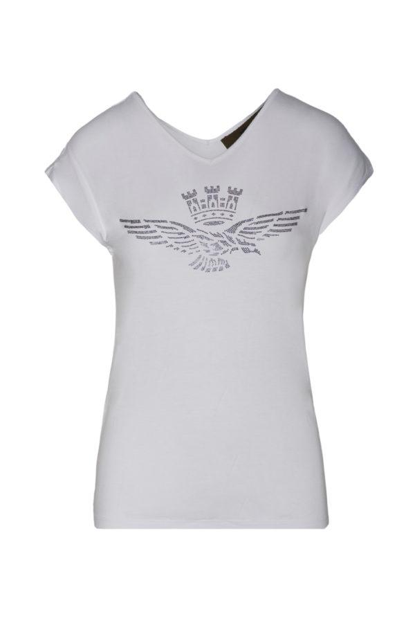 t-shirt blanc scollo Aeronautica Militare