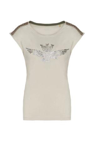 Tee-shirt beige Aeronautica Militare