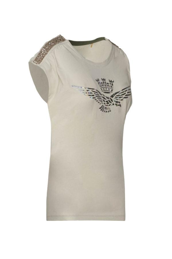 t-shirt beige Aeronautica Militare