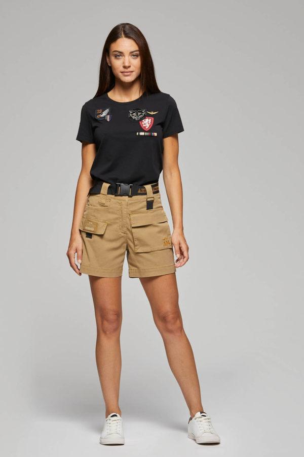 t-shirt noir ecussons aeronautica militare
