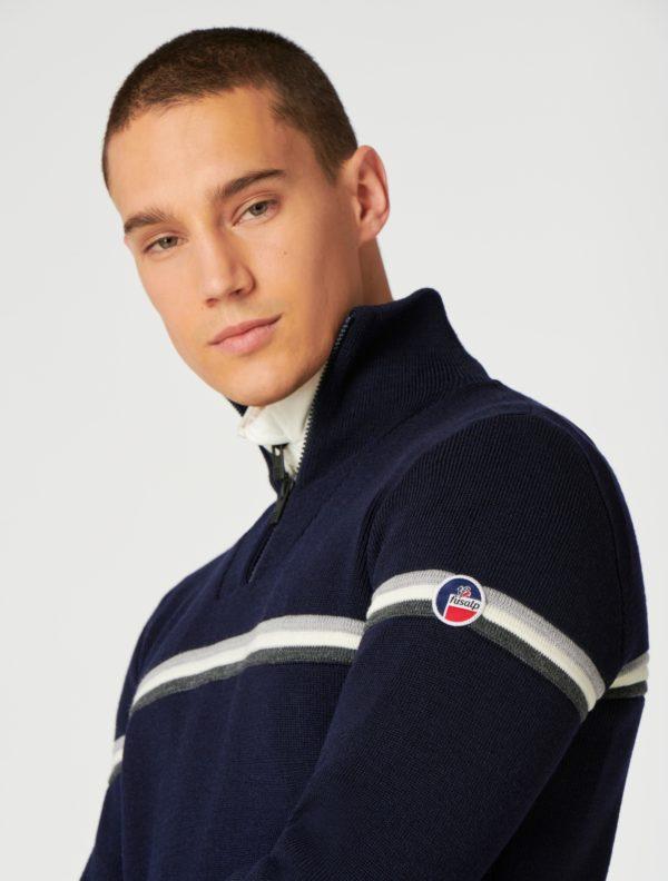 pull bleu marine fusalp